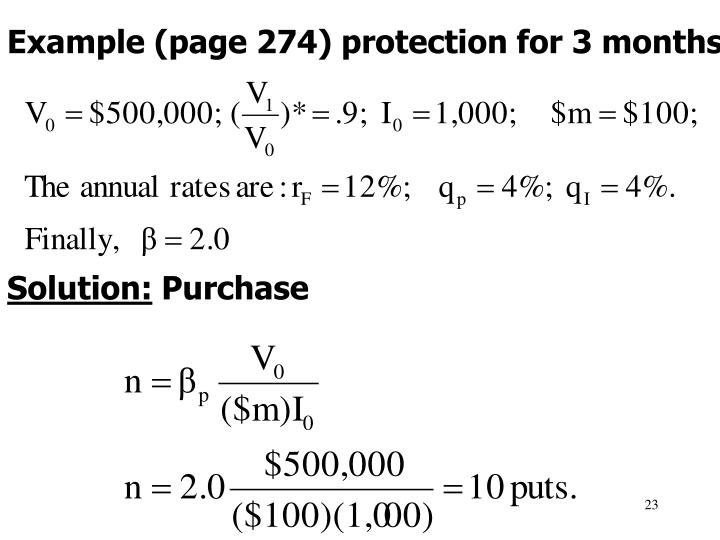 Example (page 274) protection for 3 months