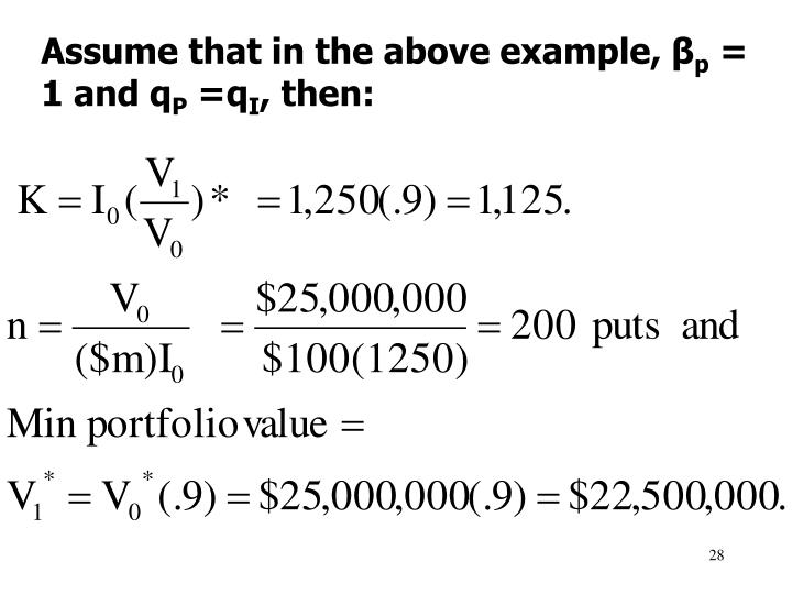 Assume that in the above example, β