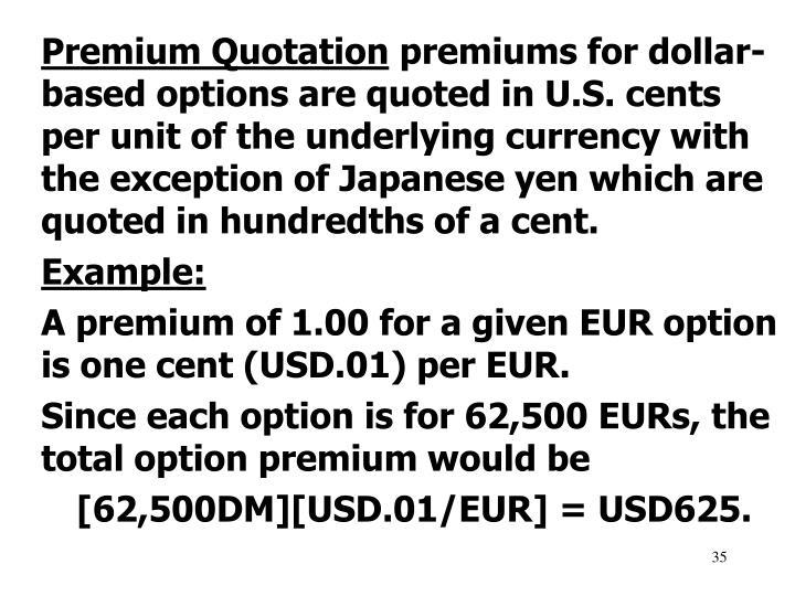 Premium Quotation