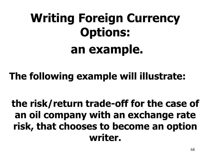 Writing Foreign Currency Options: