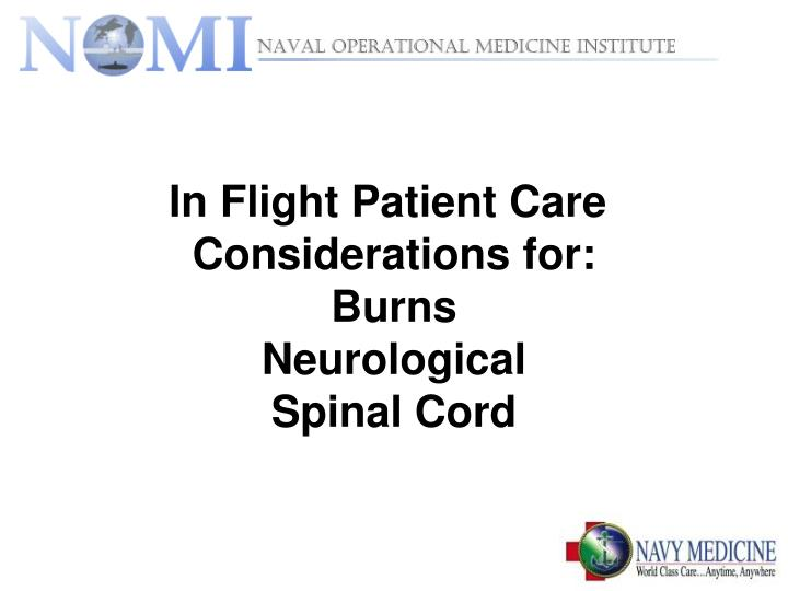 In Flight Patient Care
