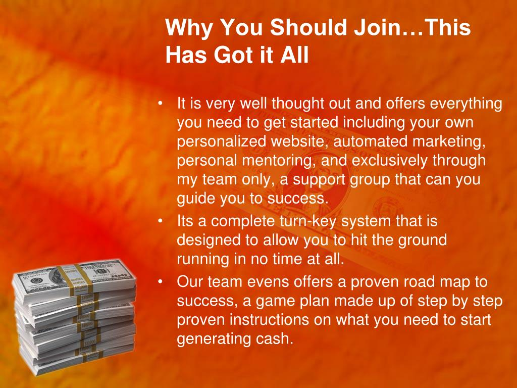 Why You Should Join…This Has Got it All