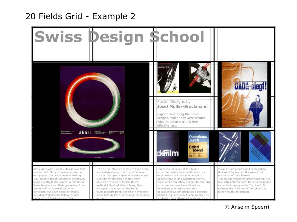 20 Fields Grid - Example 2
