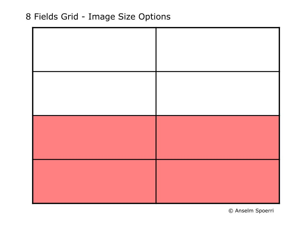 8 Fields Grid - Image Size Options