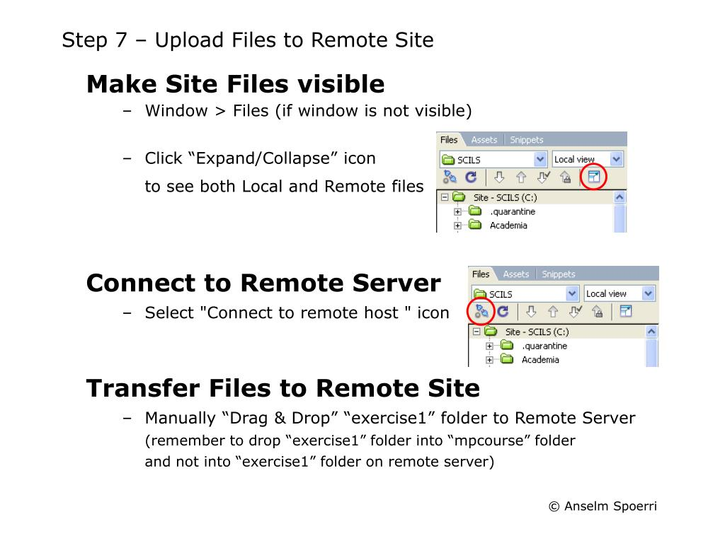 Step 7 – Upload Files to Remote Site