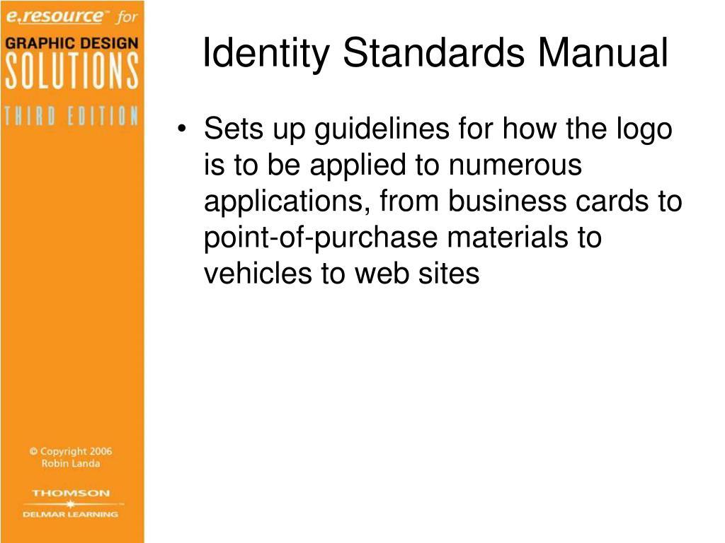 Identity Standards Manual
