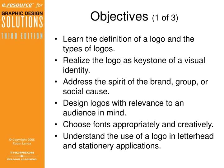 Objectives 1 of 3