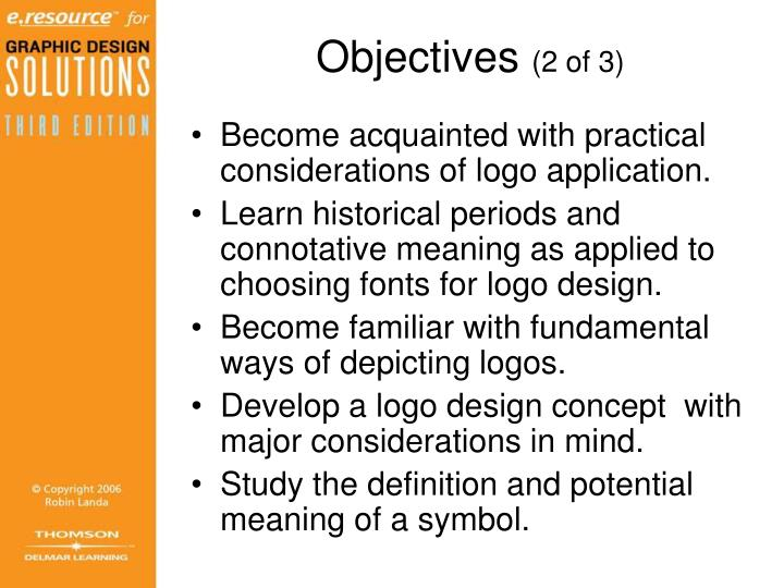 Objectives 2 of 3