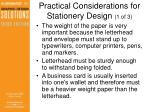 practical considerations for stationery design 1 of 3