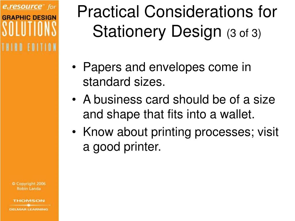 Practical Considerations for Stationery Design