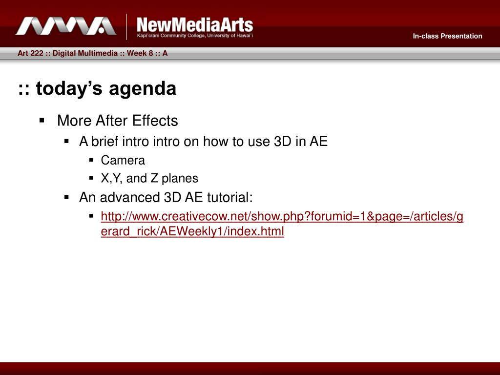 :: today's agenda