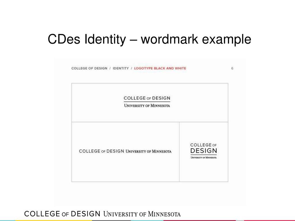 CDes Identity – wordmark example