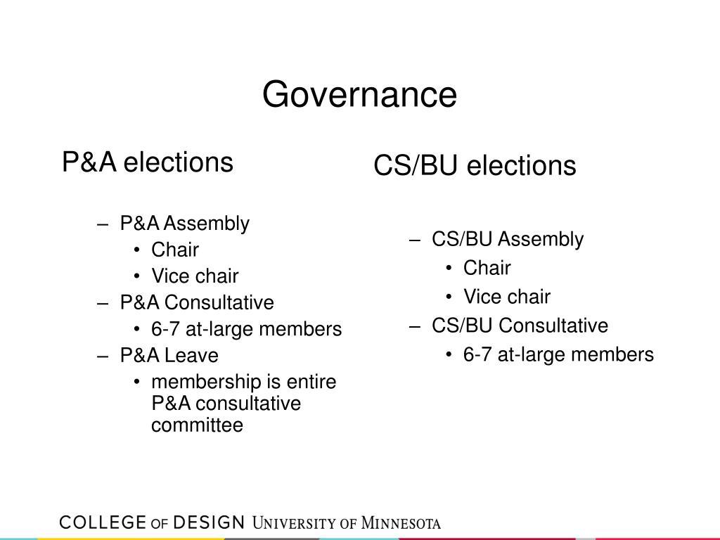 P&A elections