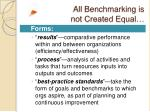 all benchmarking is not created equal