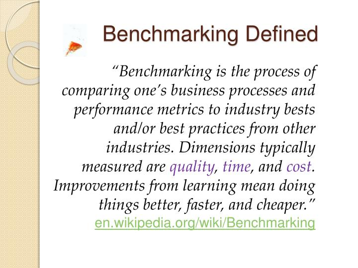 Benchmarking Defined