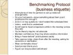 benchmarking protocol business etiquette