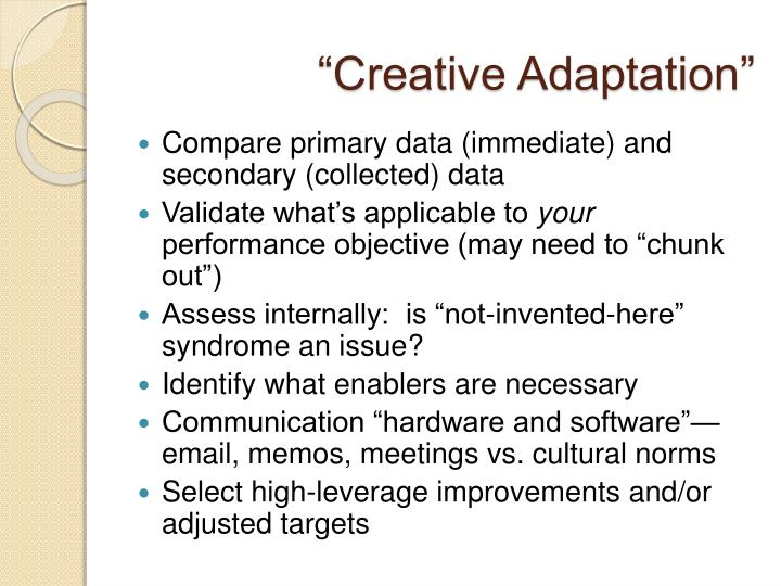 """Creative Adaptation"""