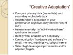creative adaptation