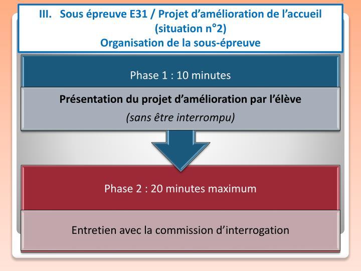 III.   Sous épreuve E31 / Projet d'amélioration de l'accueil (situation n°2)