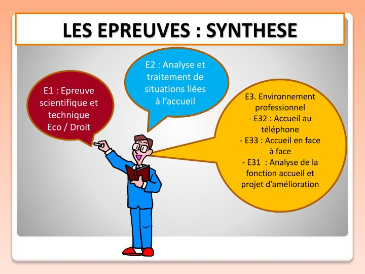 LES EPREUVES : SYNTHESE
