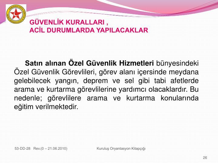 GÜVENLİK KURALLARI ,