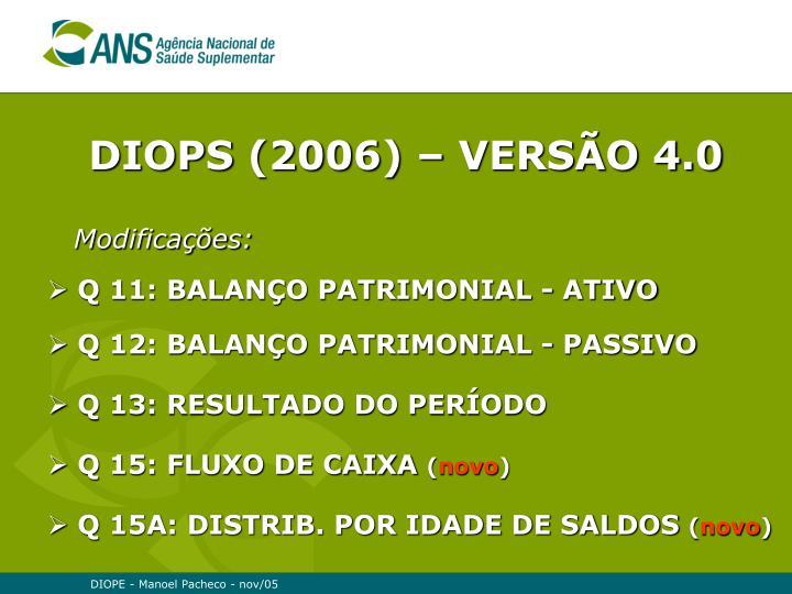 DIOPS (2006) – VERSÃO 4.0