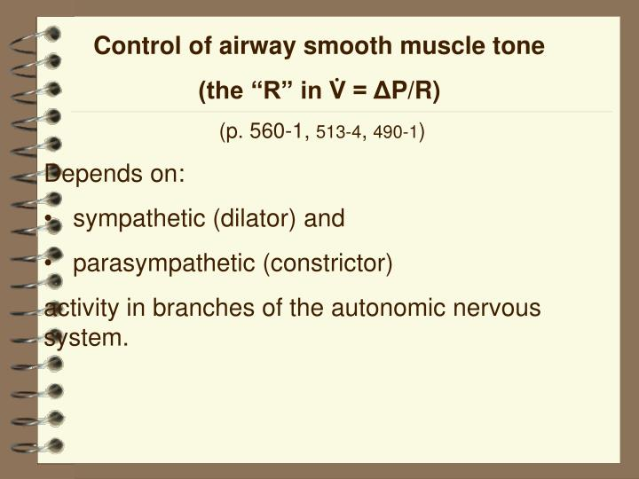 Control of airway smooth muscle tone