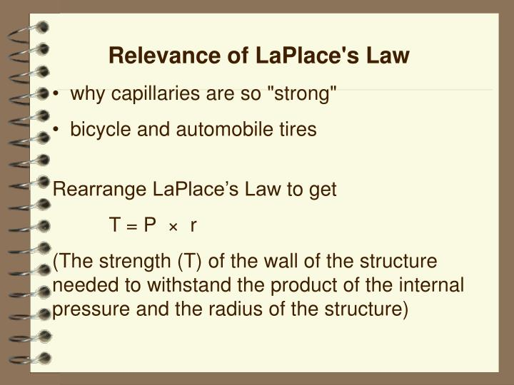 Relevance of LaPlace's Law