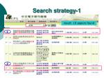 search strategy 1