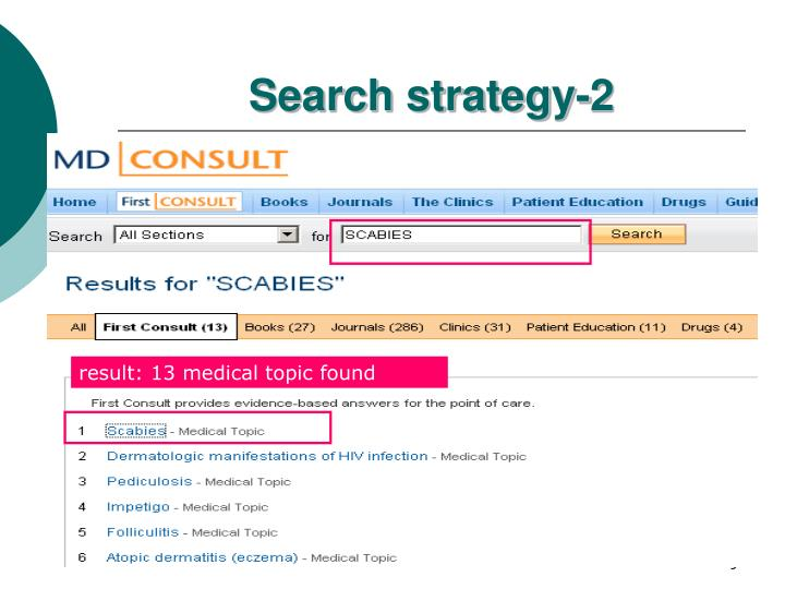 Search strategy-2