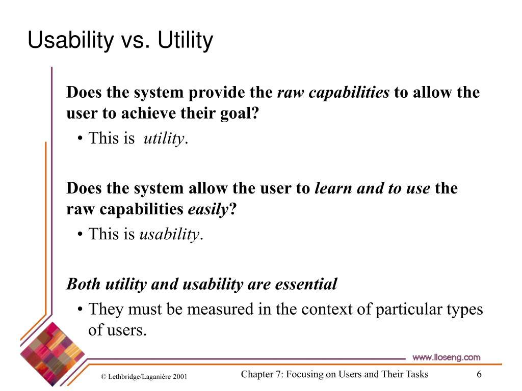 Usability vs. Utility