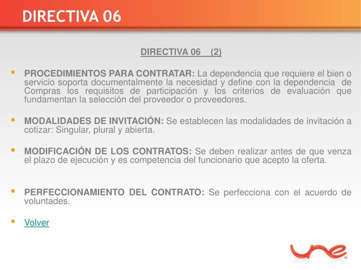 DIRECTIVA 06
