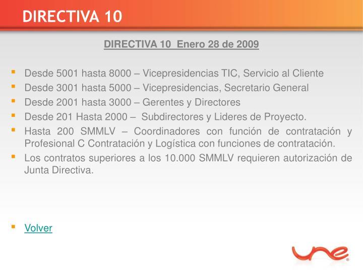 DIRECTIVA 10
