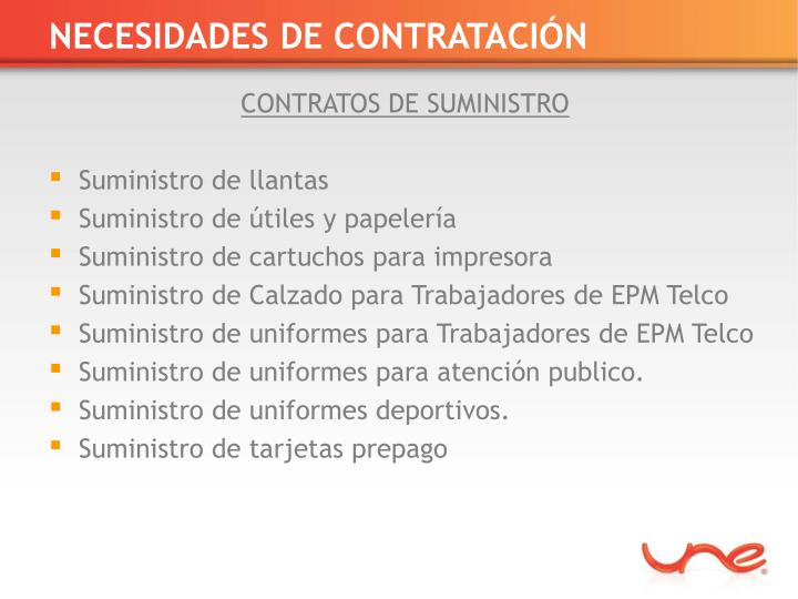 NECESIDADES DE CONTRATACIÓN