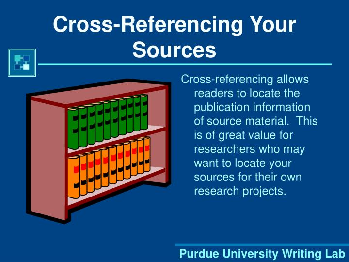Cross-Referencing Your Sources