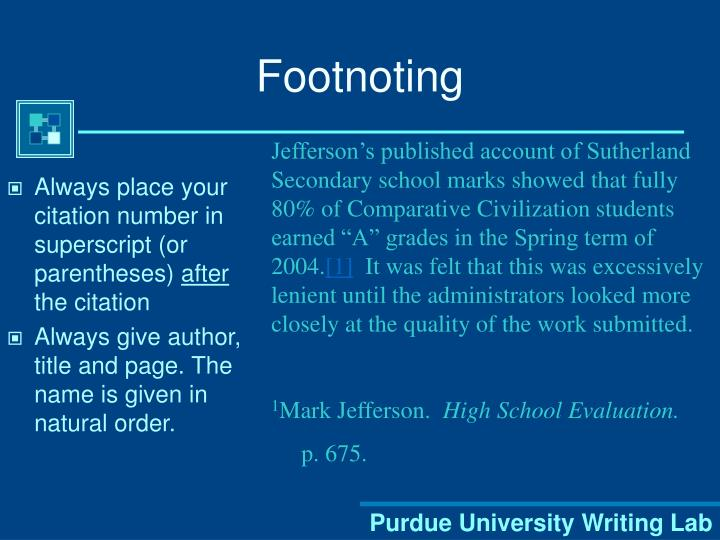 Footnoting