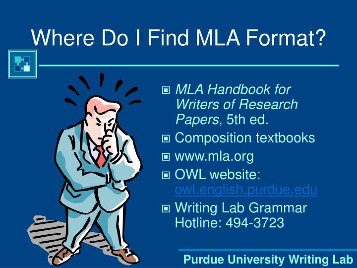 Where Do I Find MLA Format?