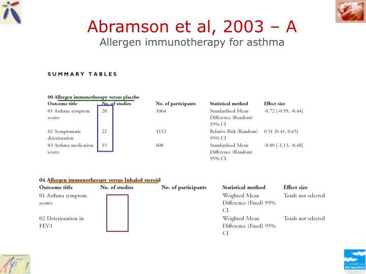 Abramson et al, 2003 – A