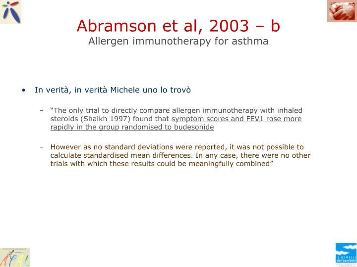 Abramson et al, 2003 – b