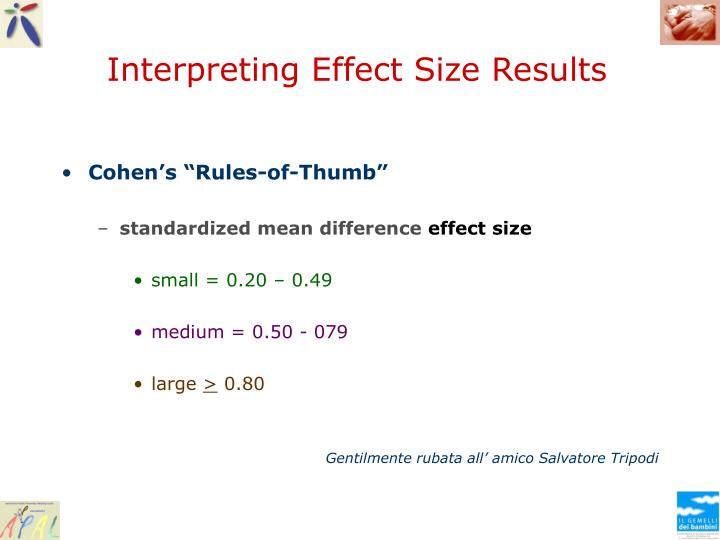 Interpreting Effect Size Results