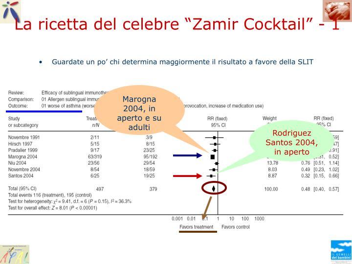 """La ricetta del celebre """"Zamir Cocktail"""" - 1"""