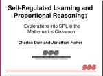 self regulated learning and proportional reasoning