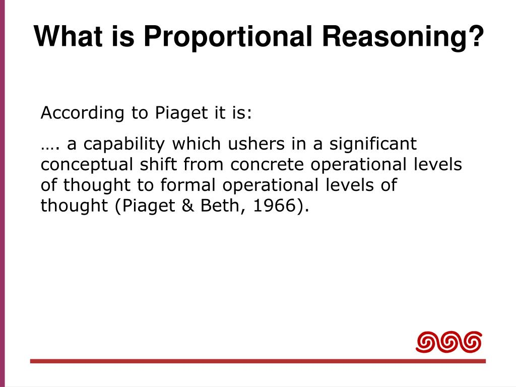 What is Proportional Reasoning?