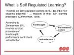 what is self regulated learning
