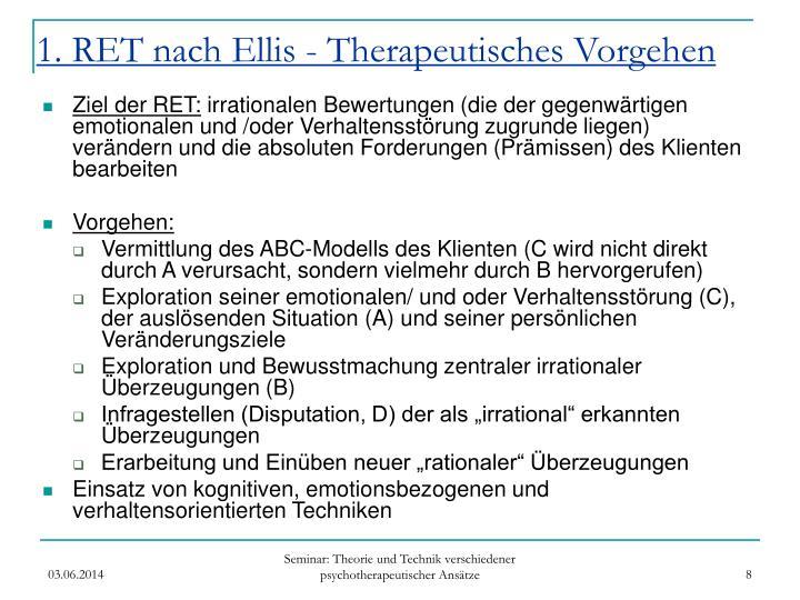 1. RET nach Ellis - Therapeutisches Vorgehen