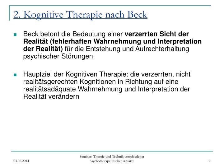 2. Kognitive Therapie nach Beck