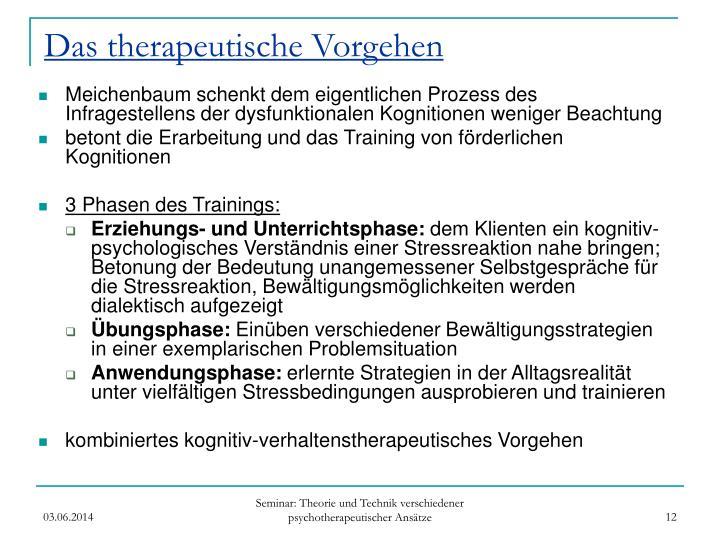 Das therapeutische Vorgehen