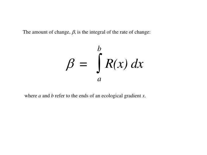 The amount of change,