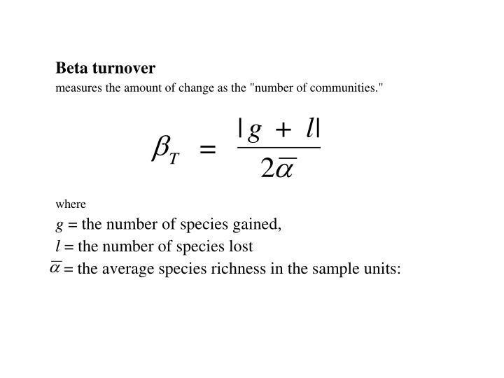 Beta turnover