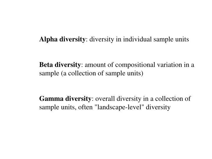 Alpha diversity